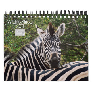 2011 calendarios - fauna África - tamaño pequeño