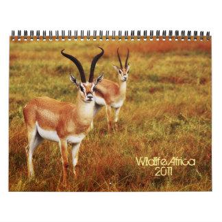 2011 calendarios - fauna África