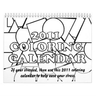 2011 calendarios que colorean a ayudar a facilitar