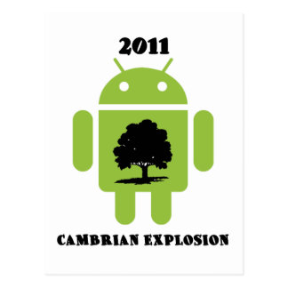2011 Cambrian Explosion (Android Bug Droid) Postcard