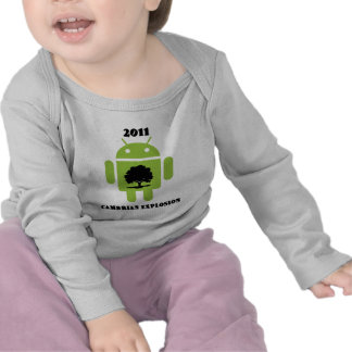 2011 Cambrian Explosion (Android Bug Droid) T Shirt