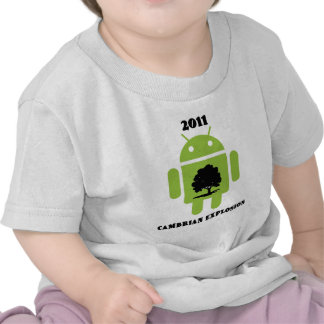 2011 Cambrian Explosion (Android Bug Droid) T-shirt
