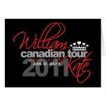 2011 Canadian Tour - William & Kate Wedding Greeting Card