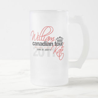 2011 Canadian Tour - William & Kate Wedding Frosted Glass Beer Mug