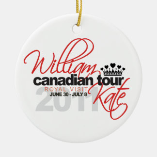 2011 Canadian Tour - William Kate Wedding Christmas Ornament