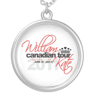 2011 Canadian Tour - William & Kate Wedding Silver Plated Necklace