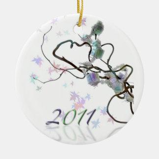 2011 celebration ceramic ornament