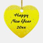 2011 Champagne Bubbles Happy New Year Ornament