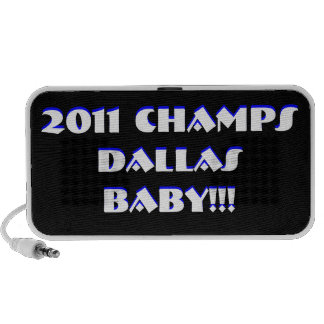 2011 CHAMPS DALLAS BABY!!! MP3 SPEAKERS