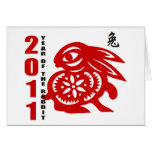 2011 Chinese Paper Cut Year of The Rabbit Greeting Cards