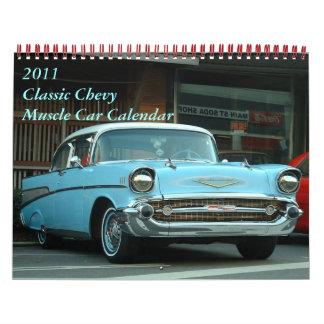 2011 Classic Chevy Muscle Car Calendar