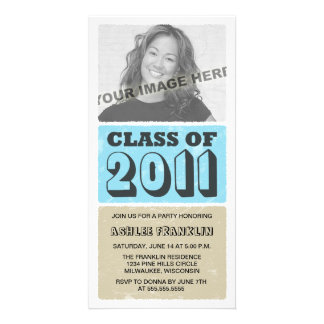 2011 Color Block Graduation Party Invitations