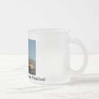 2011 Colorado Balloon Festival Frosted Glass Coffee Mug