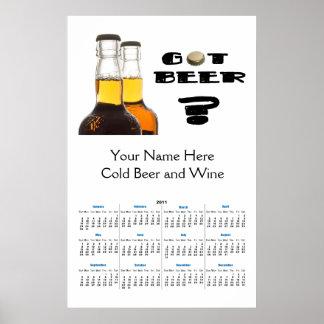 ¿2011 consiguió la cerveza? Elaboración de la cerv Póster