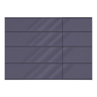 2011 Dark Blue Grey Beveled Rich Satin Look Card