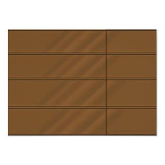 2011 Dark Orange Beveled Rich Satin Look Card