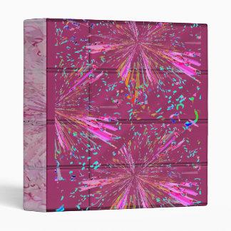 2011 Dark Satin Magenta sparkle Waves 3 Binder