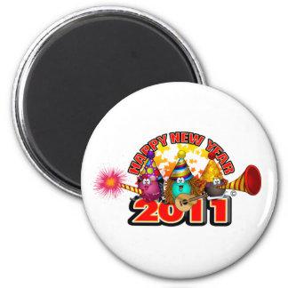 2011 - Diseño del Año Nuevo Imán Redondo 5 Cm