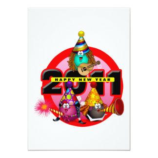 """2011 - Diseño del Año Nuevo Invitación 5"""" X 7"""""""