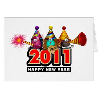 2011 - Diseño del Año Nuevo Tarjeta De Felicitación