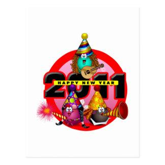 2011 - Diseño del Año Nuevo Tarjetas Postales