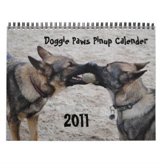2011 - Doggie Paws Pinup Calender Calendar