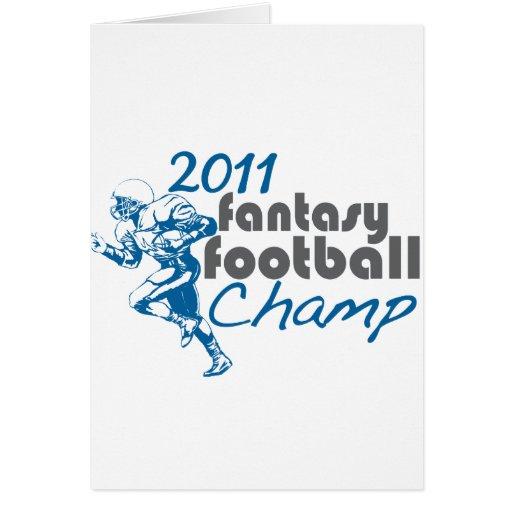 2011 Fantasy Football Champ Card
