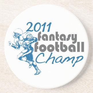 2011 Fantasy Football Champ Drink Coaster