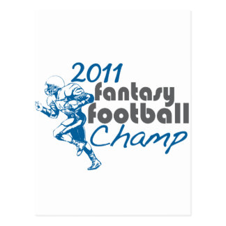 2011 Fantasy Football Champ Postcard