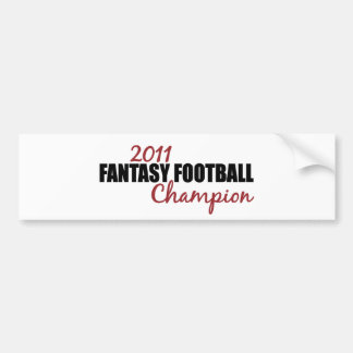 2011 Fantasy Football Champion Bumper Sticker
