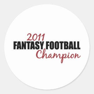 2011 Fantasy Football Champion Classic Round Sticker