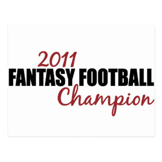 2011 Fantasy Football Champion Postcard