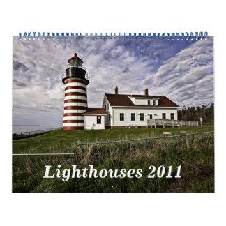 2011 faros calendario de pared