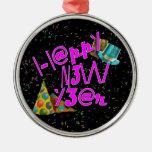 ¡2011 FELICES AÑO NUEVO! LEET con confeti Ornamentos De Navidad