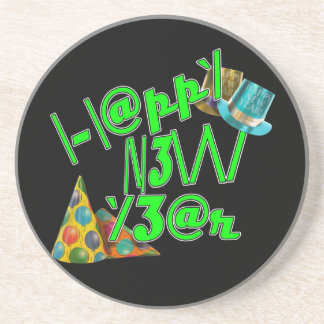 ¡2011 FELICES AÑO NUEVO! LEET con confeti Posavasos Cerveza