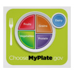 2011 Food Pyramid Choose My Plate poster