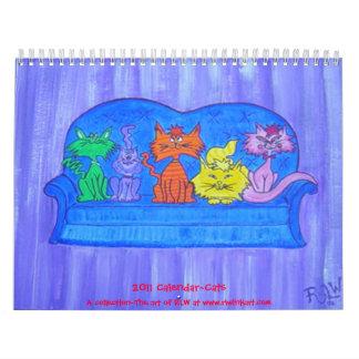 2011 gatos del ~ del calendario