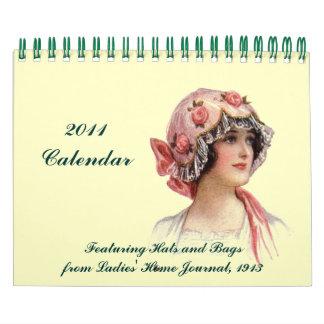 2011 gorras y bolsos del vintage 1913 del ~ del calendarios de pared