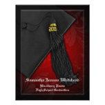 2011 graduación negra y roja del encanto de la anuncio