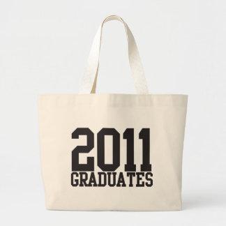 ¡2011 graduados en fuente enrrollada del bloque! bolsa tela grande