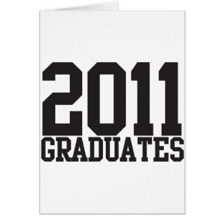 ¡2011 graduados en fuente enrrollada del bloque! tarjeta de felicitación