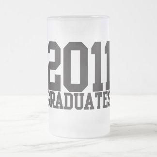 ¡2011 graduados en fuente enrrollada del bloque! taza de cristal