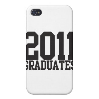 2011 graduates in funky block font! case for iPhone 4
