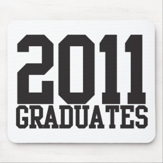 2011 graduates in funky block font! mouse pad