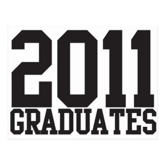 2011 graduates in funky block font post card