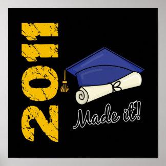 2011 Graduation Cap Poster