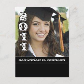 2011 Graduation Photo Invitations postcard