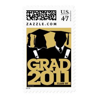2011 Graduation Postage Cap Gown Gold 8