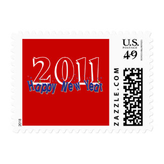 2011 Happy New Year Postage Stamps Red