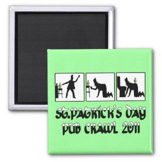 2011 Irish pub crawl 2 Inch Square Magnet